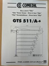 رافعة برجية COMEDIL GTS 511